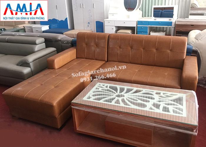 Hình ảnh Ghế sofa da đẹp chữ L thiết kế hiện đại và sang trọng