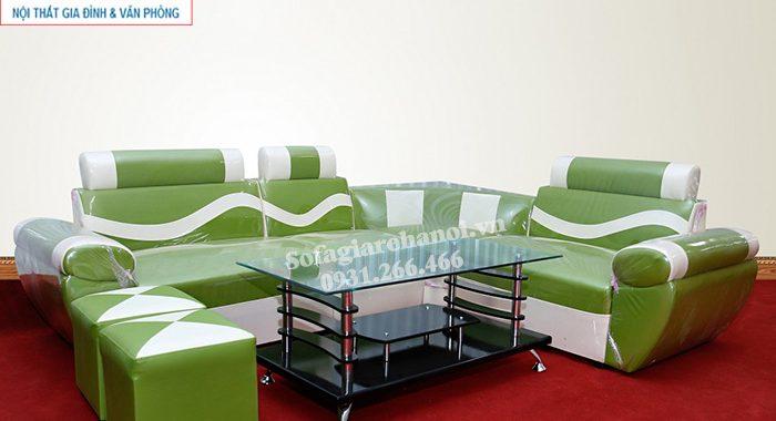Hình ảnh Sofa giá rẻ 2 triệu AmiA với gam màu xanh độc đáo, hiện đại