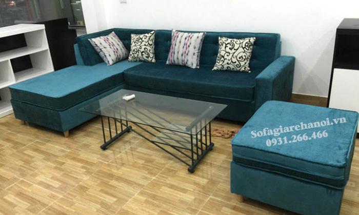 Hình ảnh Ghế sofa nỉ chữ L đẹp giá rẻ cho phòng khách nhà chung cư