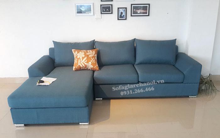 Hình ảnh Sopha nỉ phòng khách đẹp hiện đại kiểu dáng hình chữ L