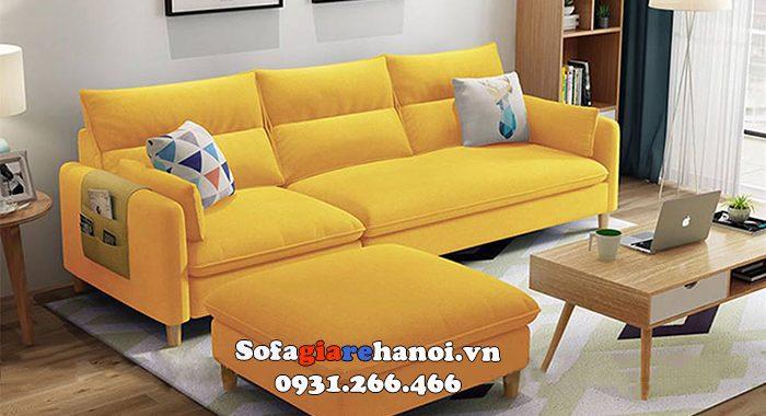 Hình ảnh Bàn ghế sofa màu vàng đẹp hiện đại cho phòng khách đẹp