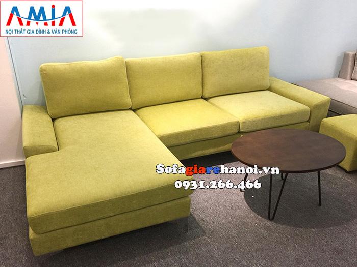 Hình ảnh Ghế sofa màu vàng chanh độc đáo bài trí trong căn phòng khách đẹp