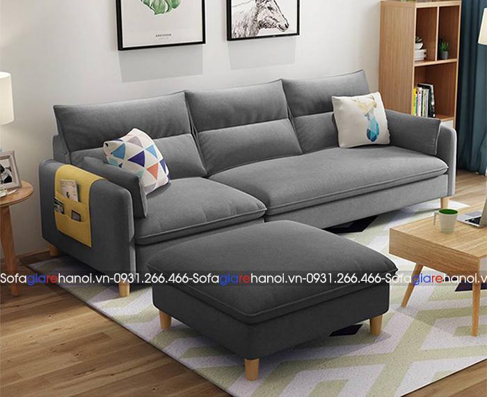 Hình ảnh Mẫu ghế sofa màu ghi hiện đại cho phòng khách đẹp