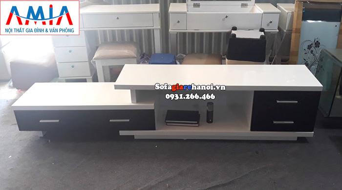 Hình ảnh Mẫu kệ tivi gỗ đẹp Hà Nội cho phòng khách gia đình