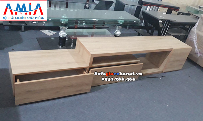 Hình ảnh Mẫu kệ tivi gỗ giá rẻ đẹp hiện đại tại Nội thất AmiA