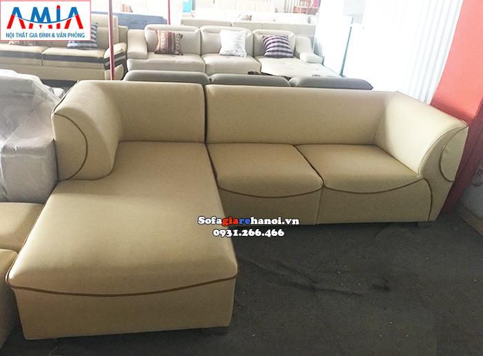 Hình ảnh Mẫu sofa da đẹp chữ L đẹp hiện đại cho phòng khách gia đình