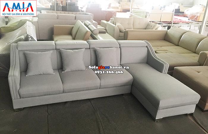 Hình ảnh Mẫu sofa nỉ góc chữ l đẹp hiện đại và sang trọng cho nhà đẹp