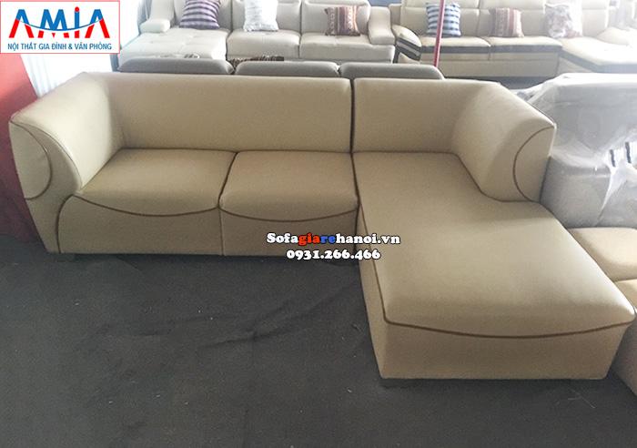 Hình ảnh Ghế sofa da góc chữ L hiện đại cho phòng khách đẹp
