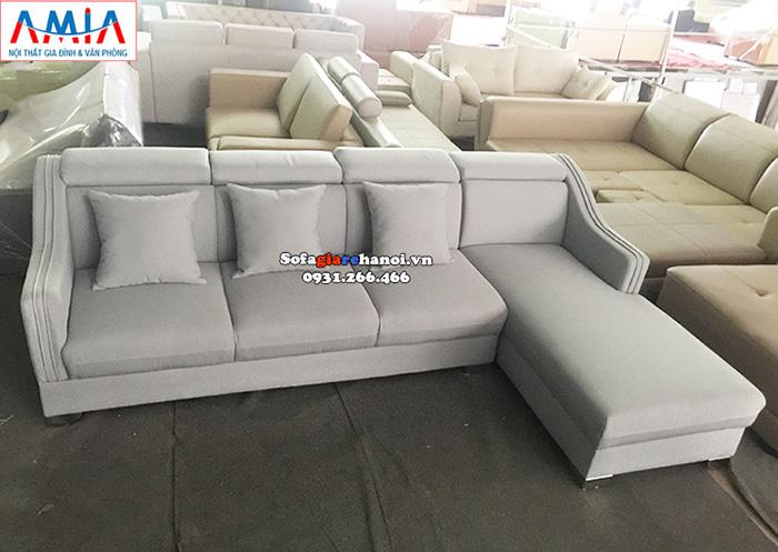 Hình ảnh Sofa góc nỉ giá rẻ đẹp hiện đại cho phòng khách đẹp