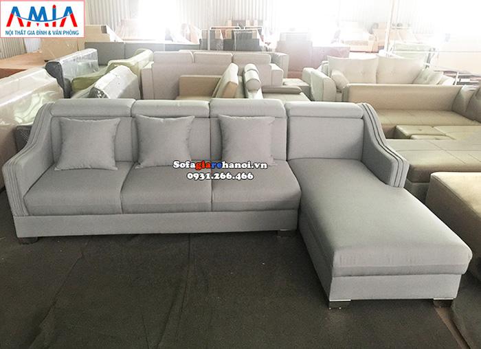 Hình ảnh Ghế sofa góc vải nỉ đẹp hiện đại tại Tổng kho nội thất AmiA