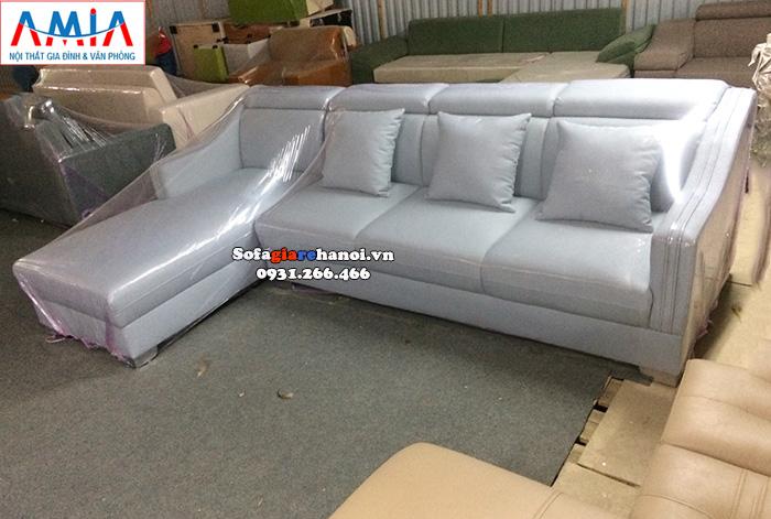 Hình ảnh Ghế sofa nỉ chữ L đẹp giá rẻ kê phòng khách đẹp gia đình