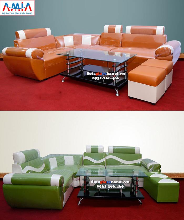 Hình ảnh Bộ bàn ghế sofa giá rẻ Hà Nội kết hợp bàn trà kính giá rẻ