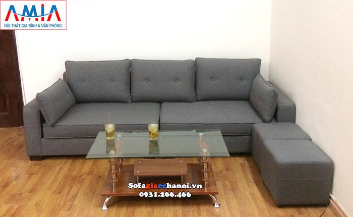 Hình ảnh Bàn kính sofa giá rẻ kết hợp cùng ghế sofa văng 3 chỗ đẹp hiện đại