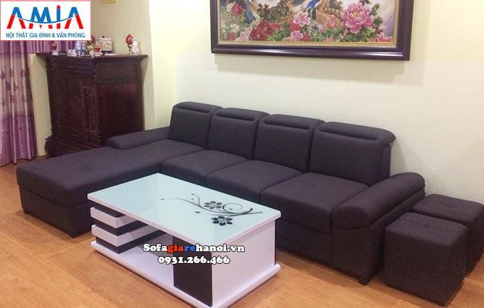 Hình ảnh bàn sofa gỗ kính giá rẻ Hà Nội mặt kính hoa văn kết hợp 2 gam màu trắng - đen