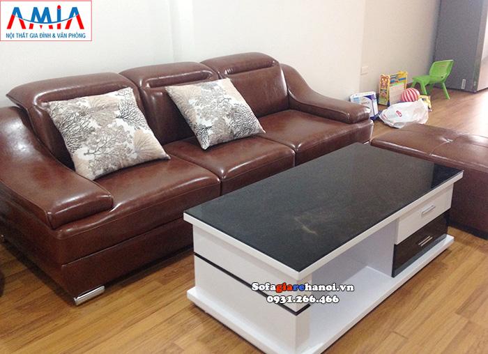 Hình ảnh Bàn sofa gỗ kính hiện đại cho phòng khách gia đình đẹp mê ly
