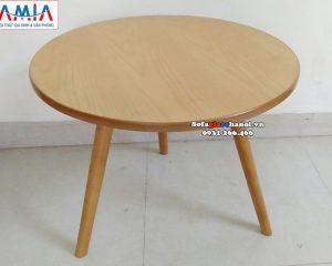 Hình ảnh Mẫu bàn sofa hình tròn hiện đại cho phòng khách đẹp