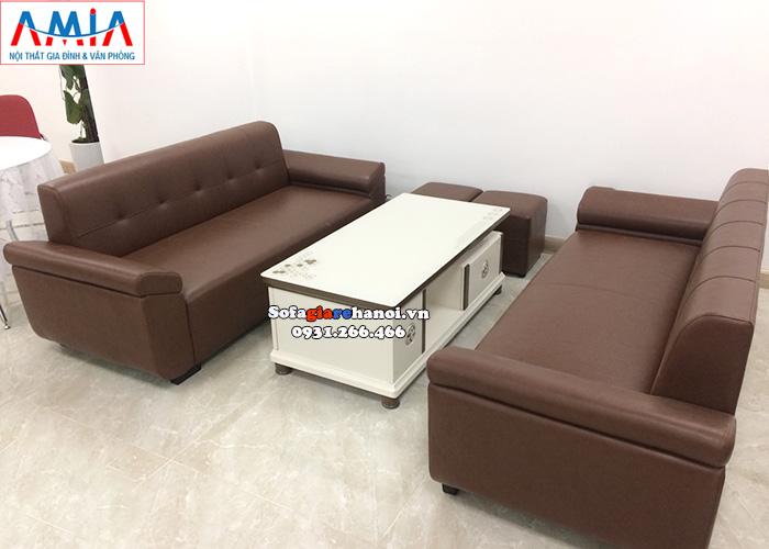Hình ảnh Bàn trà gỗ mặt kính cao cấp kết hợp bộ ghế sofa phòng làm việc