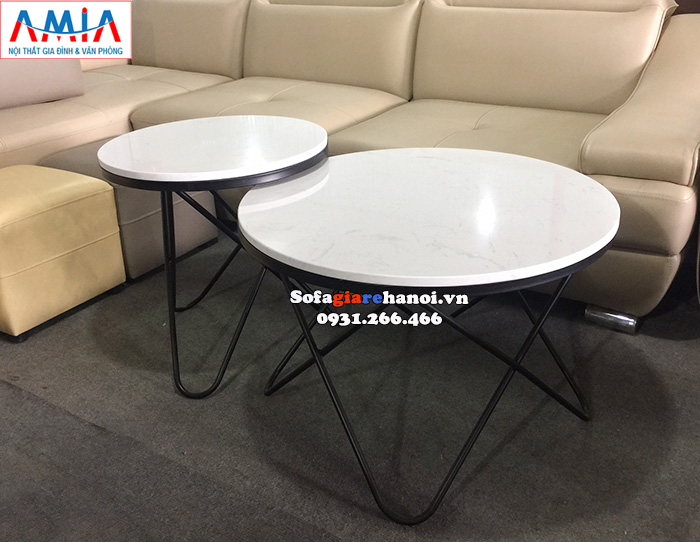 Hình ảnh Mẫu bàn trà sofa Hà Nội thiết kế to nhỏ độc đáo