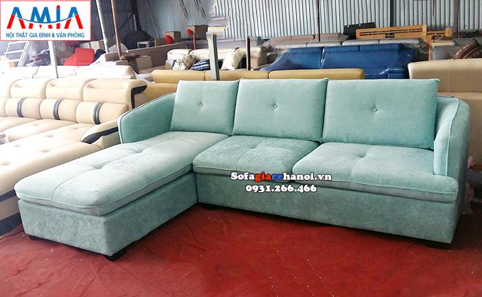 Hình ảnh Ghế sofa nỉ chữ L đẹp hiện đại cho phòng khách đẹp gia đình
