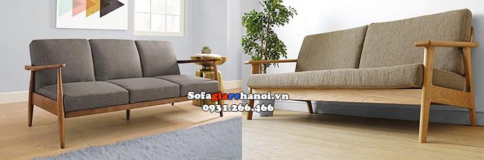 Hình ảnh Ghế sofa văng gỗ hiện đại thiết kế đơn giản mà đẹp cho phòng khách xinh xắn