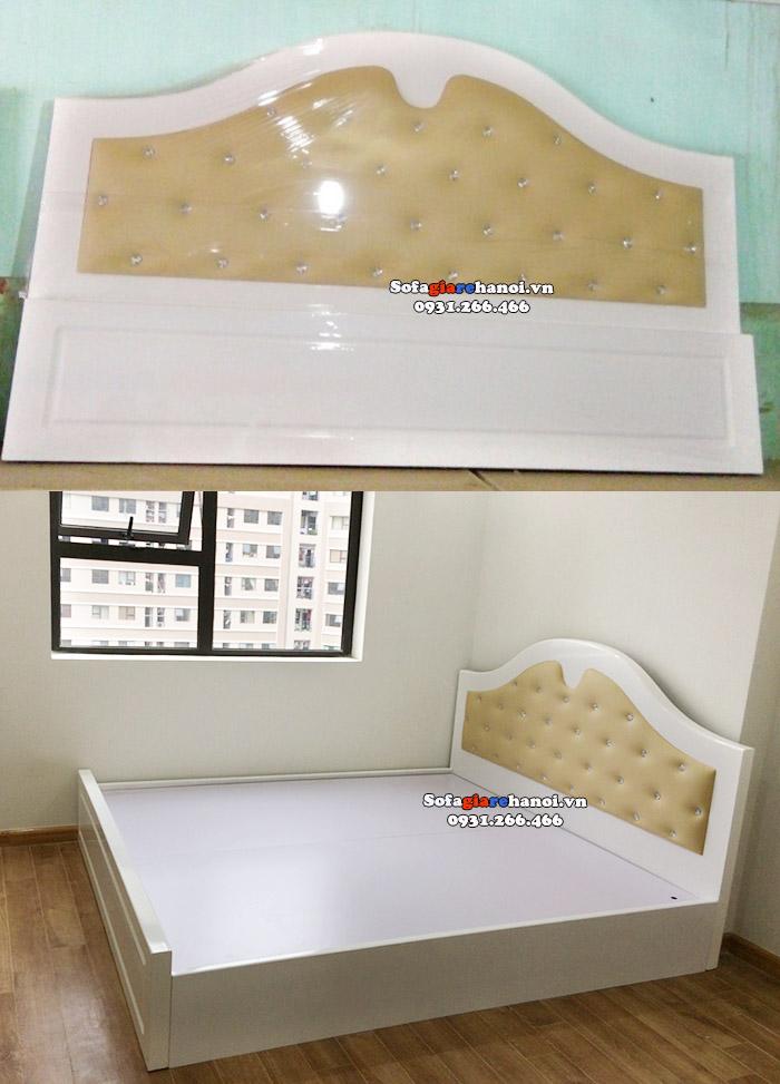 Hình ảnh Giường sofa giá rẻ Hà Nội cho nhà chung cư đẹp hiện đại