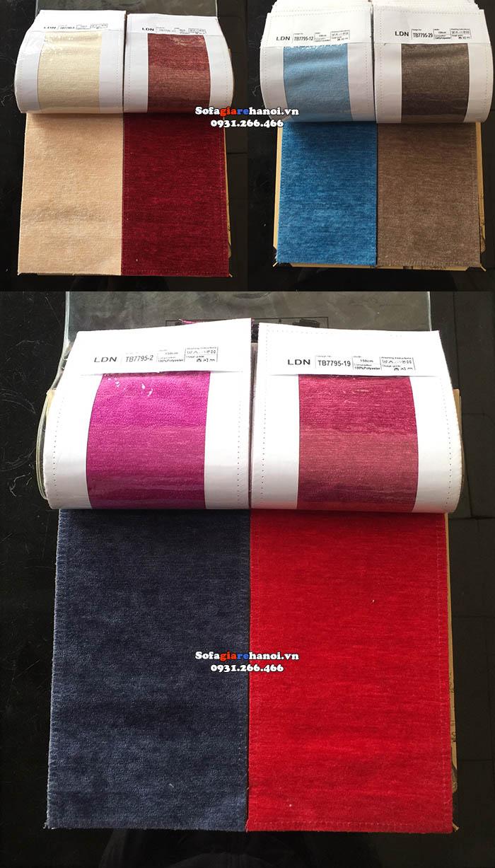 Hình ảnh màu vải nỉ làm sofa văng theo yêu cầu về màu sắc theo sở thích và nhu cầu riêng