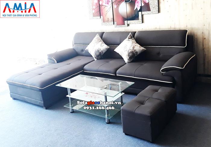 Hình ảnh Mẫu bàn trà sofa giá rẻ tại Hà Nội thiết kế 3 tầng kính hiện đại