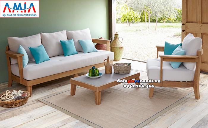 Hình ảnh ghế sofa gỗ giá rẻ tại Hà Nội đẹp mê ly