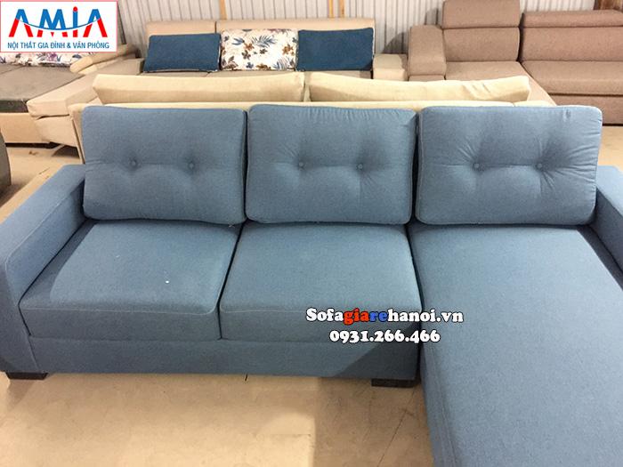Hình ảnh Ghế sofa nỉ chữ L cho phòng khách giá rẻ đẹp hiện đại