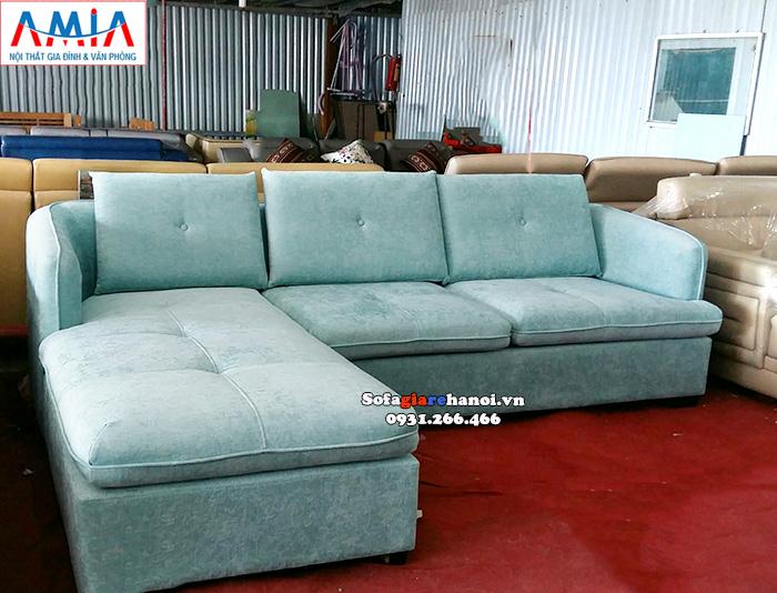 Hình ảnh Ghế sofa nỉ đẹp chữ L cho phòng khách hiện đại gia đình
