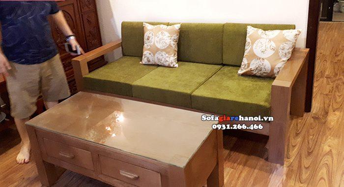 Hình ảnh Sofa văng gỗ Sồi hiện đại cao cấp cho phòng khách nhà chung cư