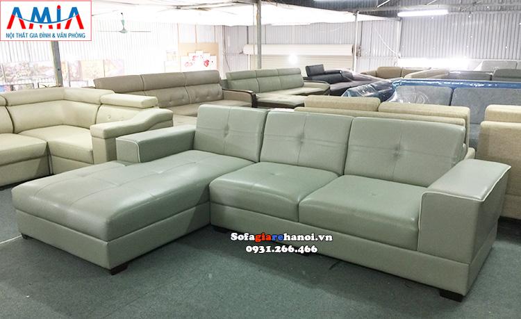 Hình ảnh Bàn ghế sofa phòng khách giá rẻ tại Hà Nội thiết kế hình chữ L 3 chỗ