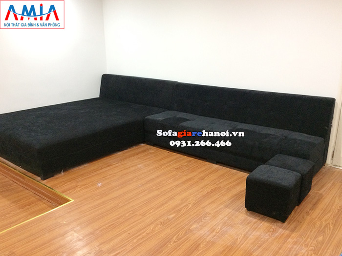Hình ảnh Mẫu ghế sofa chờ giá rẻ Hà Nội thiết kế hình chữ L hiện đại phù hợp với không gian