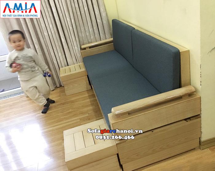 Hình ảnh Mẫu ghế sofa văng gỗ cho phòng khách nhỏ