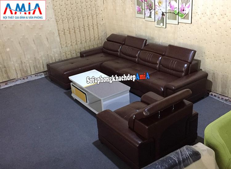 Hình ảnh Mẫu ghế sofa da cao cấp cho phòng khách lớn hiện đại