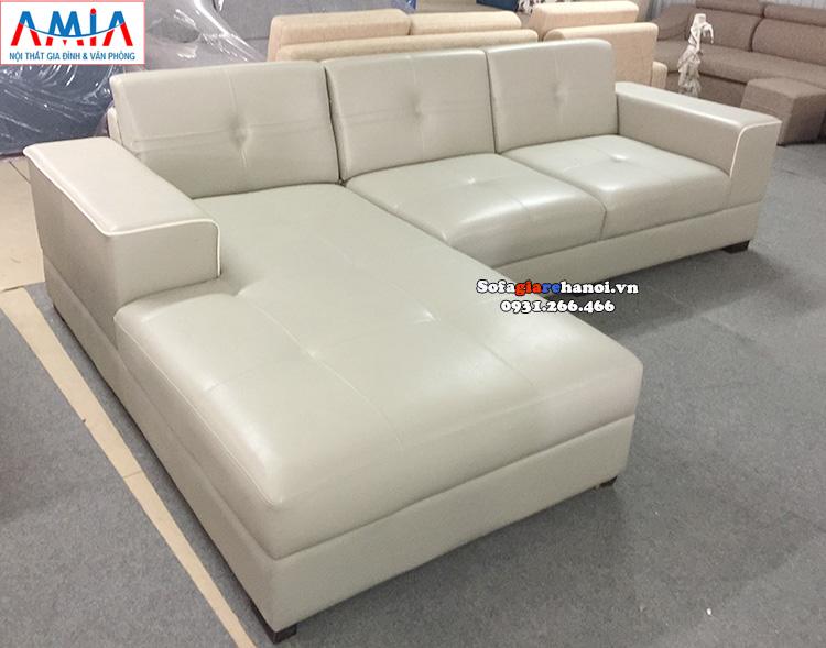 Hình ảnh Sofa giá rẻ cho phòng khách đẹp nhà phố, nhà chung cư thiết kế hình chữ L