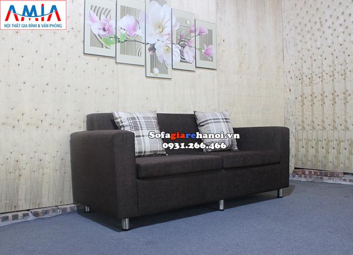 Hình ảnh Sofa giá rẻ phòng khách chung cư 2 chỗ dạng văng nỉ nhỏ