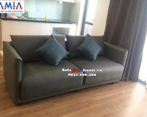 Hình ảnh Ghế sofa văng da giá rẻ Hà Nội thiết kế 2 chỗ hiện đại cho phòng khách chung cư