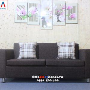 Hình ảnh Ghế sofa văng nỉ giá rẻ Hà Nội thiết kế 2 chỗ đơn giản mà đẹp