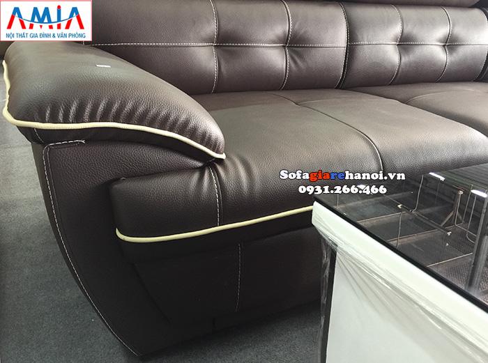 Hình ảnh mẫu sofa đẹp nhấp bằng da màu đen