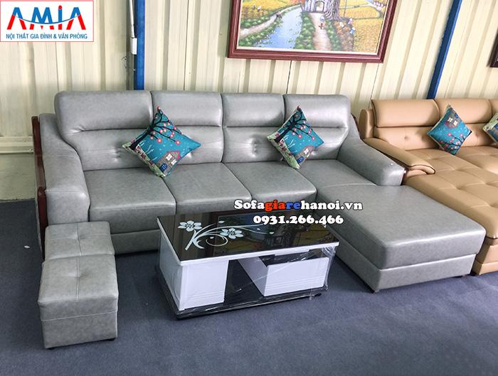 Hình ảnh Ghế sofa da đẹp kích thước lớn với chất liệu da hiện đại kê phòng khách lớn cao cấp