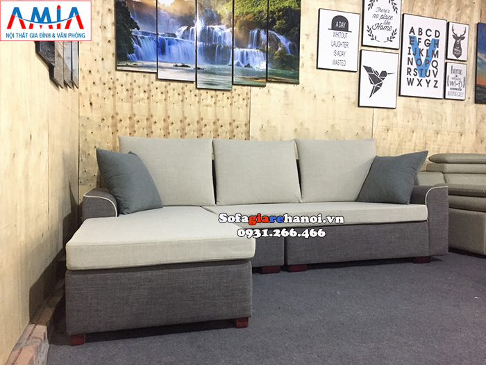 Hình ảnh Ghế sofa nỉ nhỏ cho phòng khách chung cư thiết kế hiện đại với kích thước nhỏ xinh xắn