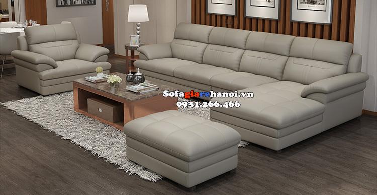 Hình ảnh Bộ ghế sofa đẹp da Hàn Quốc cao cấp cho phòng khách lớn