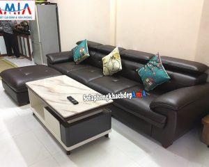 Hình ảnh Mẫu sofa văng dài kê phòng khách chung cư đẹp hiện đại