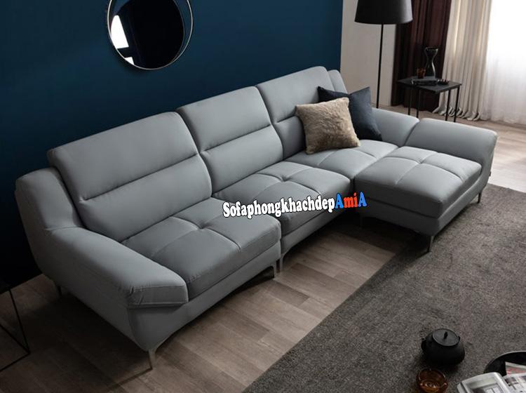 Hình ảnh Bộ sofa văng đẹp phòng khách hiện đại tích hợp với đôn lớn ghép thành sofa hình chữ L