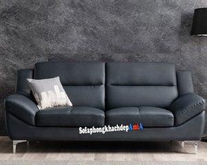 hình ảnh Mẫu sofa văng giá rẻ phòng khách đẹp hiện đại với gam màu đen sang trọng