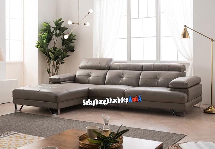 Hình ảnh Ghế sofa da phòng khách hiện đại và sang trọng