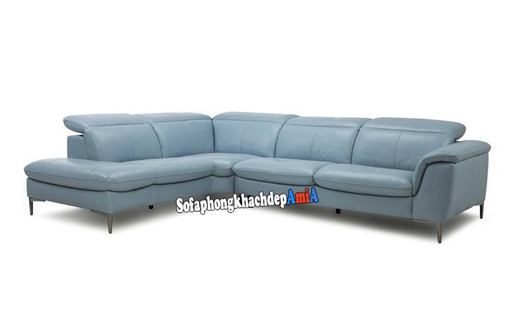 Hình ảnh Sofa da đẹp cho phòng khách cao cấp chất liệu da nhập khẩu Malaysia
