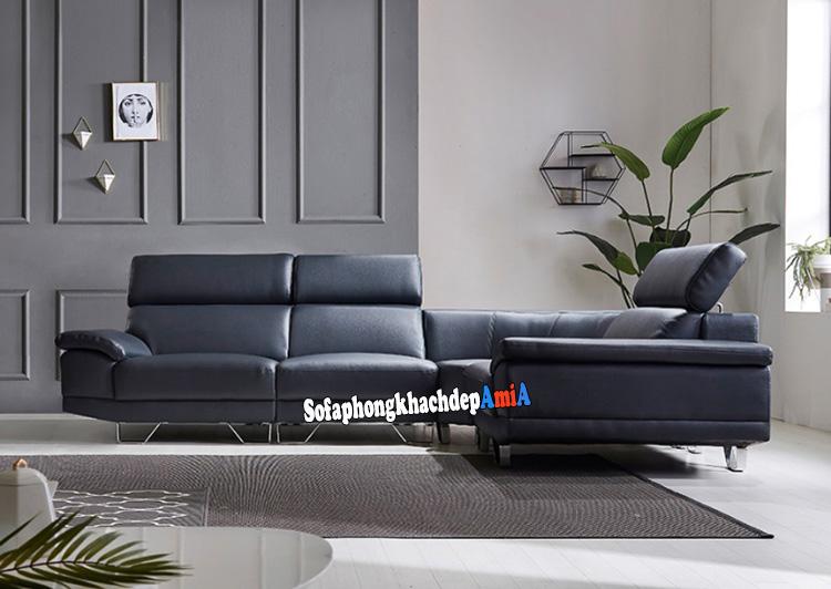 Hình ảnh Sofa da đẹp phòng khách cao cấp thiết kế hiện đại và sang trọng