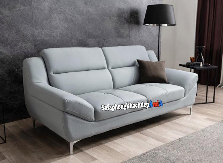 Hình ảnh Sofa văng da phòng khách đẹp hiện đại thiết kế 2 chỗ kích thước nhỏ xinh